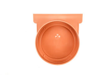 PVC Drain End Cap Terra Cotta WATERFORM