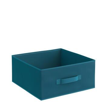 Storage basket polyester teal 31cm X 31cm X 15cm