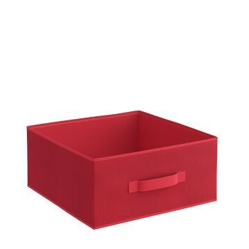 Storage basket polyester red 31cm X 31cm X 15cm