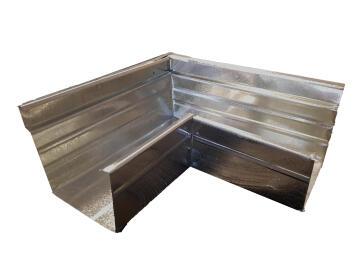 Galvanized Steel Square Gutter External Corner 75mm x 100mm PREMIER