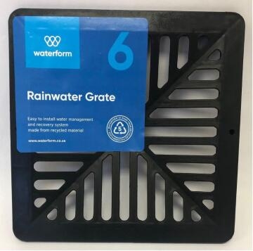 PVC Pit Grate Black WATERFORM