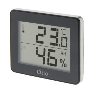 Indoor Hygro Thermo LCD Black