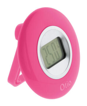 Indoor Round LCD Thermometer Pink