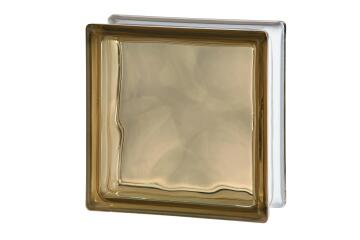 Glass Block Light Brown Wave