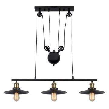 CHANDELIER CH238/3 MATT BLACK