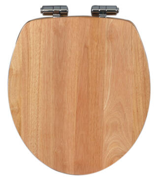 Toilet seat soft close rubber wood Sensea Klara