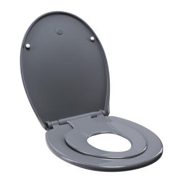 Toilet seat family with baby seat combined Sensea grey
