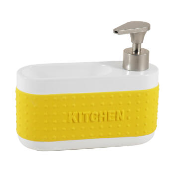 Kitchen soap dispenser ceramic yellow