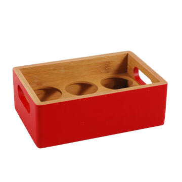 BAMBOO SPICE BOTTLE RACK RED