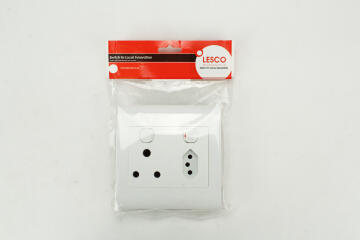 Socket 100x100mm 1x3pin - 1x2pin LESCO white