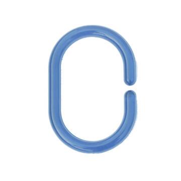 shower ring plastic SENSEA blue 12 pieces