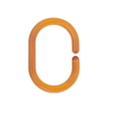 shower ring plastic SENSEA orange 12 pieces