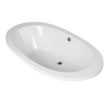 Bathtub rectangular acrylic CROWIE white 180X70X40CM