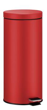 Kitchen pedal bin 30L red