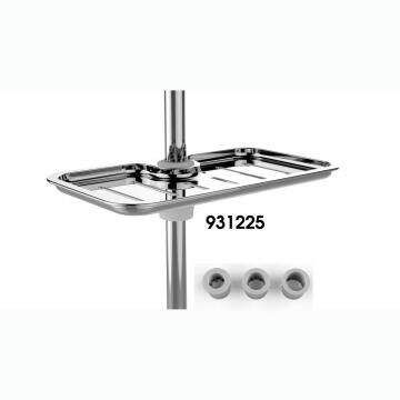 Soap dish plato chrome with rail adaptators SENSEA