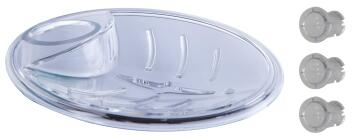 SOAP DISH CLAIR TRANSPARENT WITH THREE A