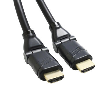 HDMI cable Male / Male with 360° swivel 1.5m