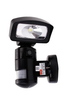 Security light with motion sensor and camera internet connected