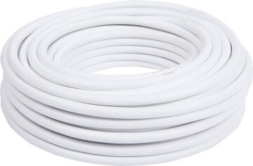 Cabtyre cable 2x1mm + earth white 50m