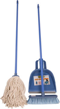ADDIS BROOM MOP AND DUSTPAN COMBO