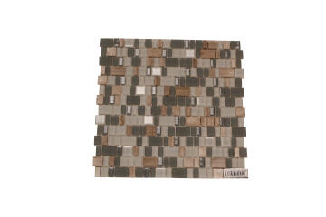Mosaic Glass/Stone Frosted Grey 300X300