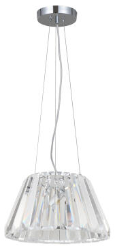 PENDANT LAMP E27 3*60W METAL+CRYSTAL CHR