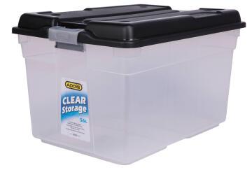 56L CLEAR STORAGE BOX CLEAR