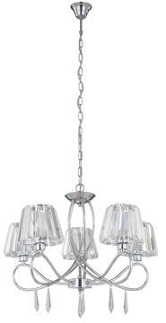 PENDANT LAMP E14 5*40W METAL+CRYSTAL CHR