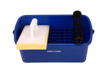 Rinsing bucket + trowel for joints dexter 10 liters