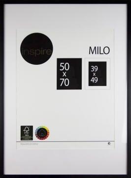 FRAME INSPIRE MILO BLACK 50X70CM