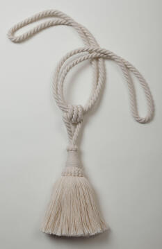 TIEBACK 1 TASSEL COTTON OFF WHITE