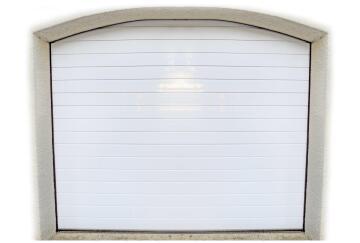 Garage Door Sectional Aluminium Stripe White-Single-w2440xh2140mm