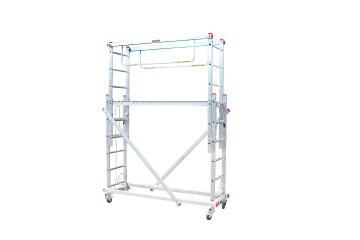 Aluminium stage ladder scaffolding