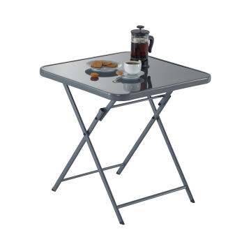 NATERIAL EMYS TABLE STEEL D.GREY 70X70