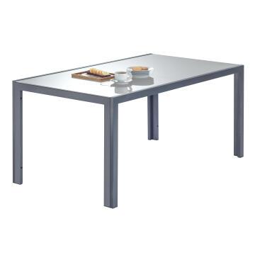 NATERIAL LYRA TABLE ALU D.GREY 160X90