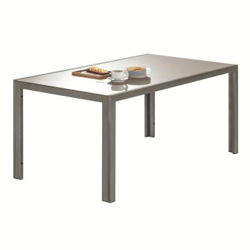 NATERIAL LYRA TABLE ALU BROWN 160X90