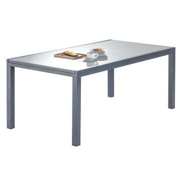 NATERIAL LYRA TABLE ALU DARK GREY180/260