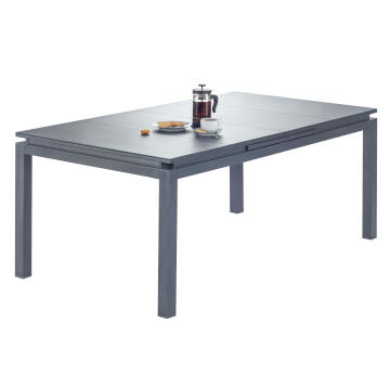 NATERIAL ODYS. TABLE ALU D.GREY 180/240
