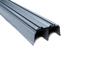 Wardrobe sliding door rail grey 1800mm