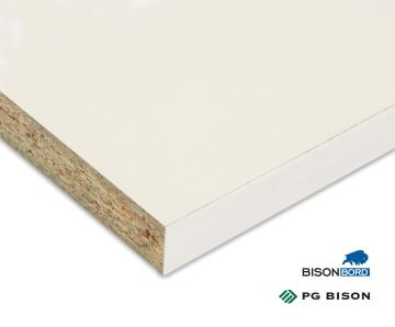Plank Melamine on Chip Super White Peen 16mm thick-1830x305mm