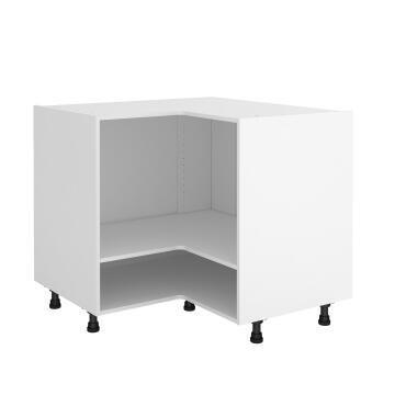 Kitchen cabinet Delinia « L » angle white 58cmx112cmx76cm