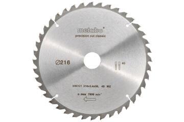 Circular saw blade METABO HW/CT 216X30 40 WZ 5
