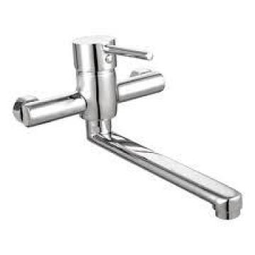 Kitchen tap lever mixer Macniel iolite wall type chrome