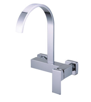 Kitchen tap lever mixer Macniel tanzanite wall type chrome