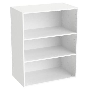 Modular cabinet w/shelves white Spaceo H100cm x L80 cm x D45cm