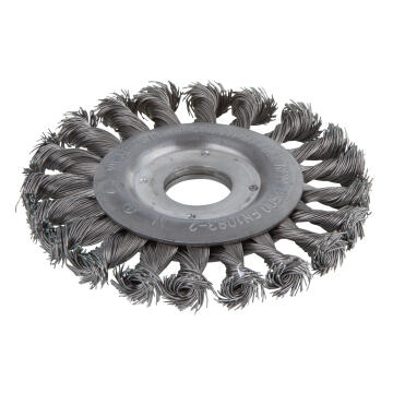 1 WIRE WHEEL BRUSH, TWISTED 22.2 MM BORE