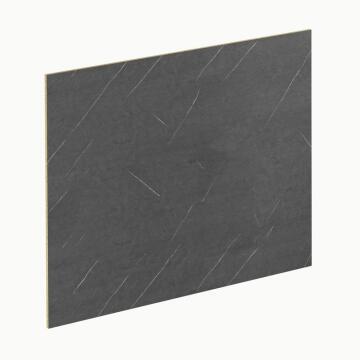 Kitchen splash back laminate Black Marble/Cabin Wood L3000 cm x W640cm x T8cm