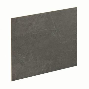 Kitchen splash back laminate Black Metal/Luna Black L3000 cm x W640cm x T8cm