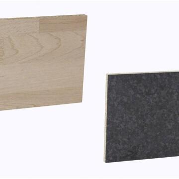 Kitchen splash back laminate Scissed Beech/Blk Marble L3000 cm x W640cm x T8cm
