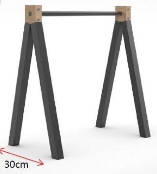 Trestle Aspen Vshape L700xw300xh730mm